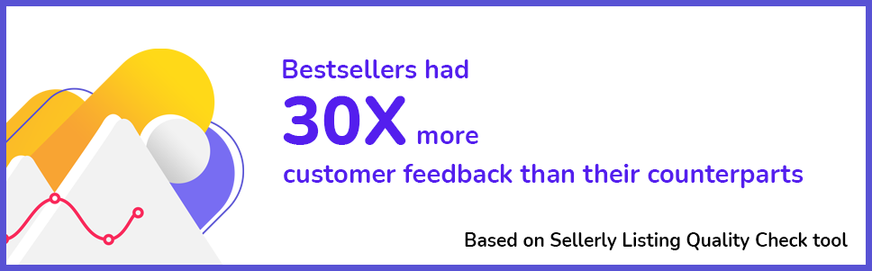 Customer feedback in Amazon listings