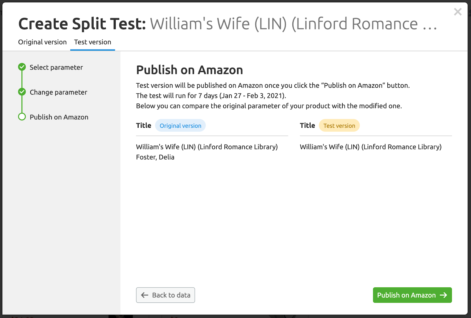 How to use Split testing tool