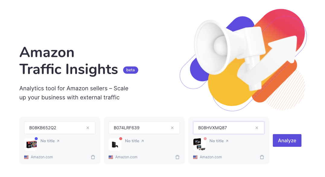 How to use Amazon Traffic Insights